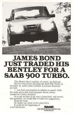 "Saab 900 Turbo - ""The Silver Beast"" for James Bond"