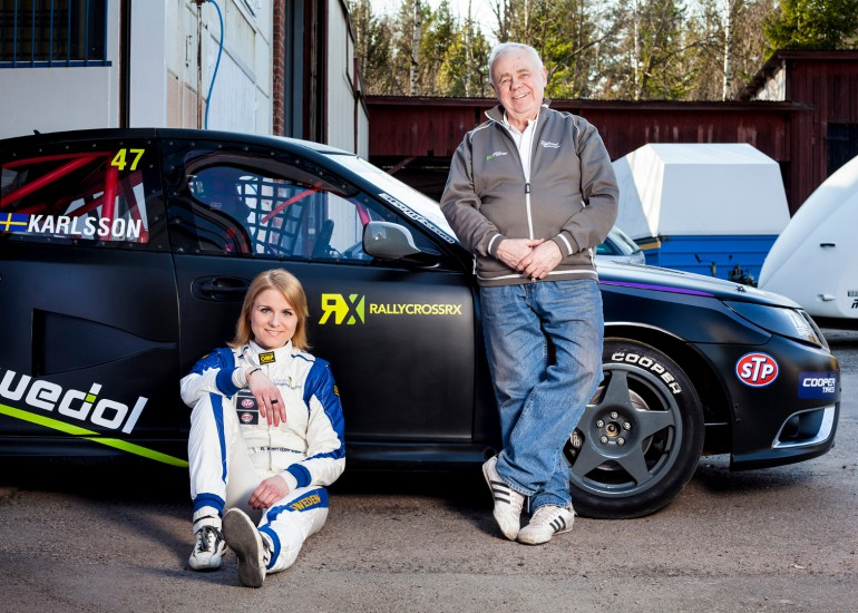 Swedish driver Ramona Karlsson